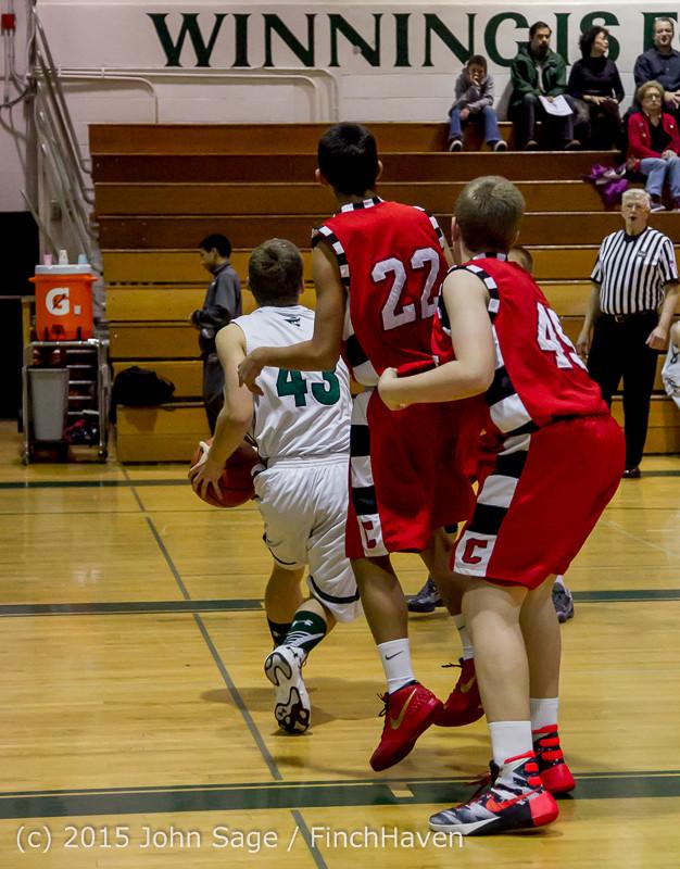 0961 Boys JV Basketball v Crosspoint 122115