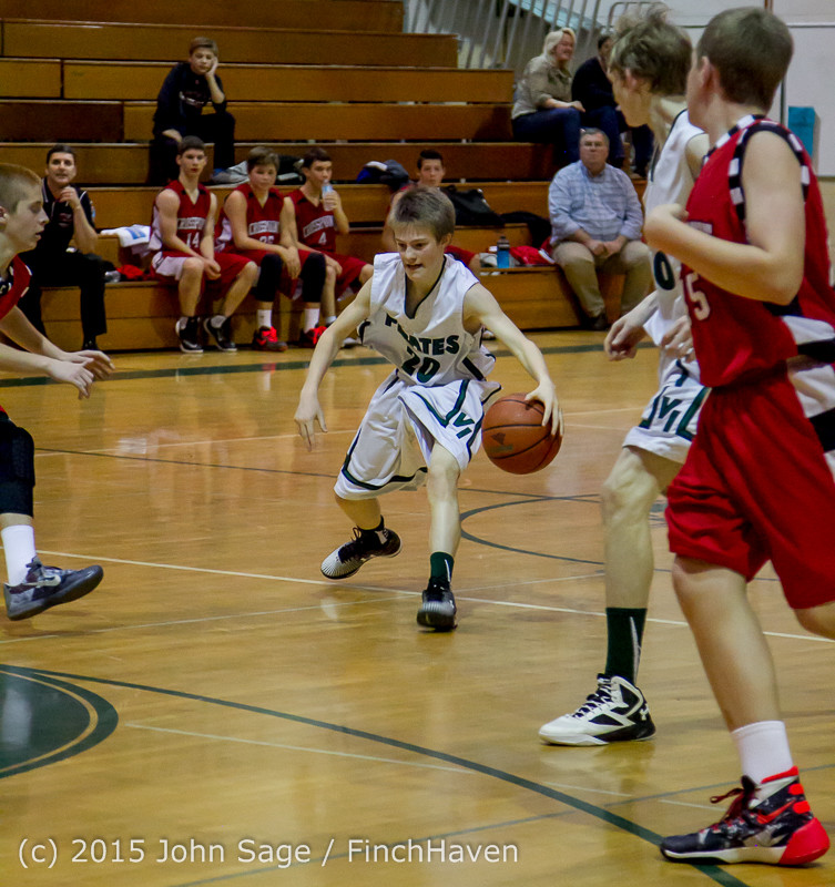 0985 Boys JV Basketball v Crosspoint 122115