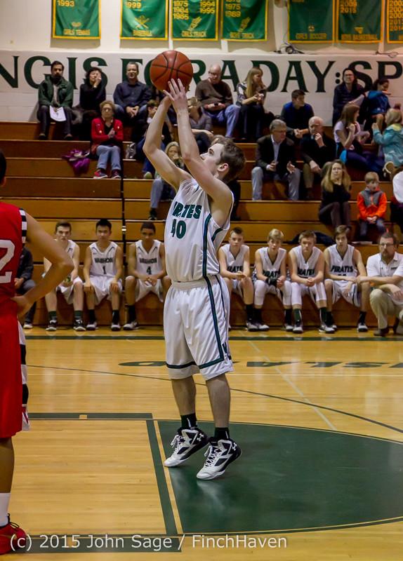 1003 Boys JV Basketball v Crosspoint 122115