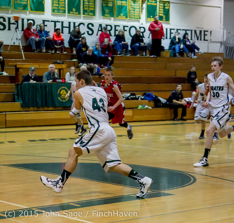 1016 Boys JV Basketball v Crosspoint 122115