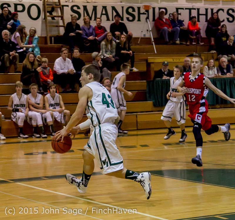 1019 Boys JV Basketball v Crosspoint 122115