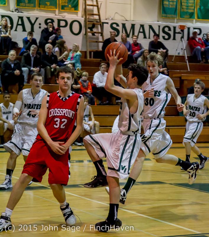 1077 Boys JV Basketball v Crosspoint 122115