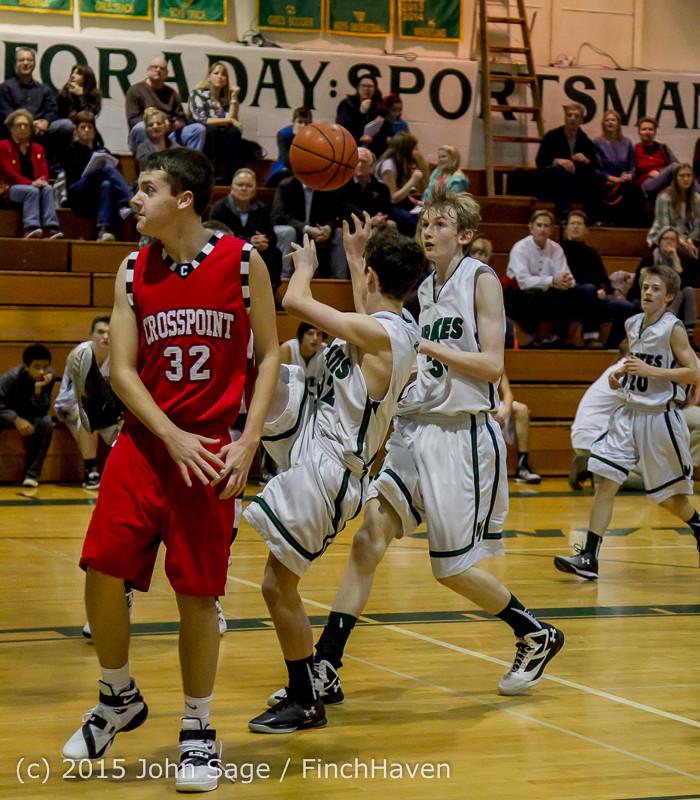 1080 Boys JV Basketball v Crosspoint 122115
