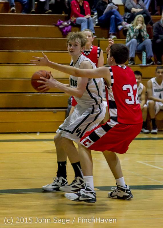 1106 Boys JV Basketball v Crosspoint 122115