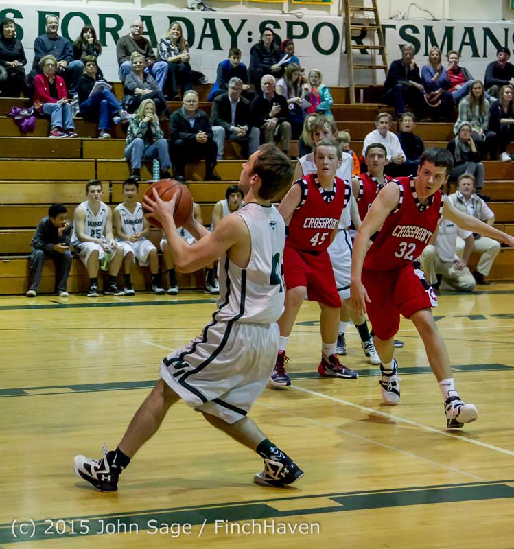 1128 Boys JV Basketball v Crosspoint 122115