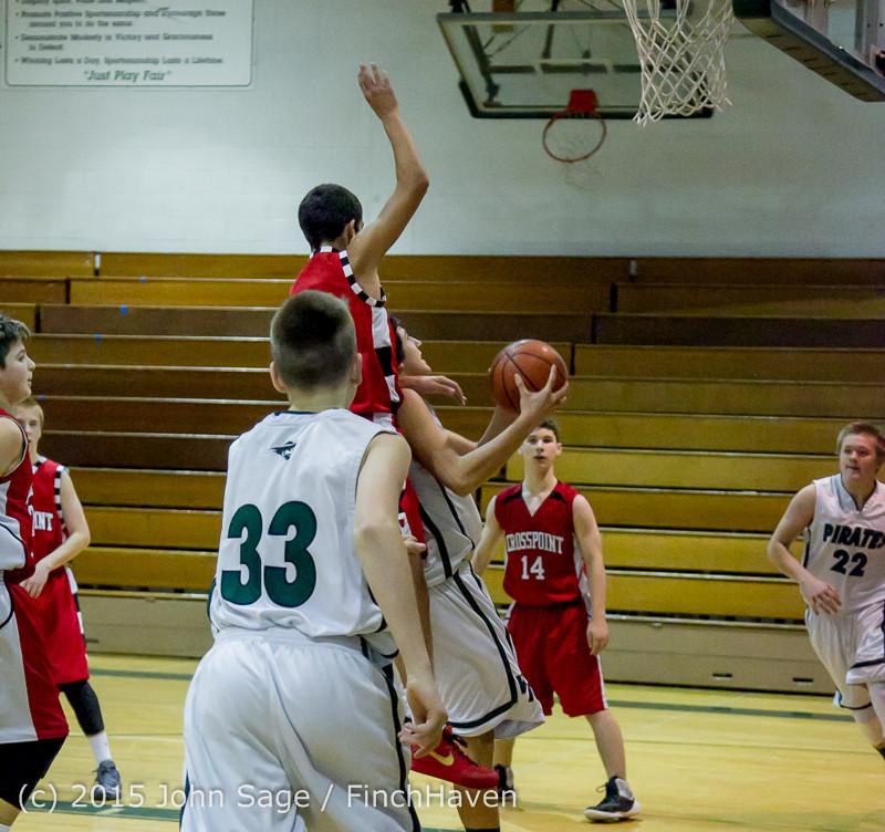 1234 Boys JV Basketball v Crosspoint 122115