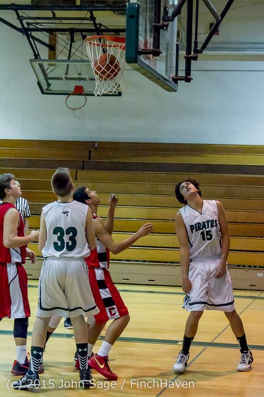 1242 Boys JV Basketball v Crosspoint 122115