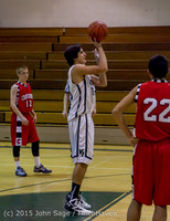 1249 Boys JV Basketball v Crosspoint 122115