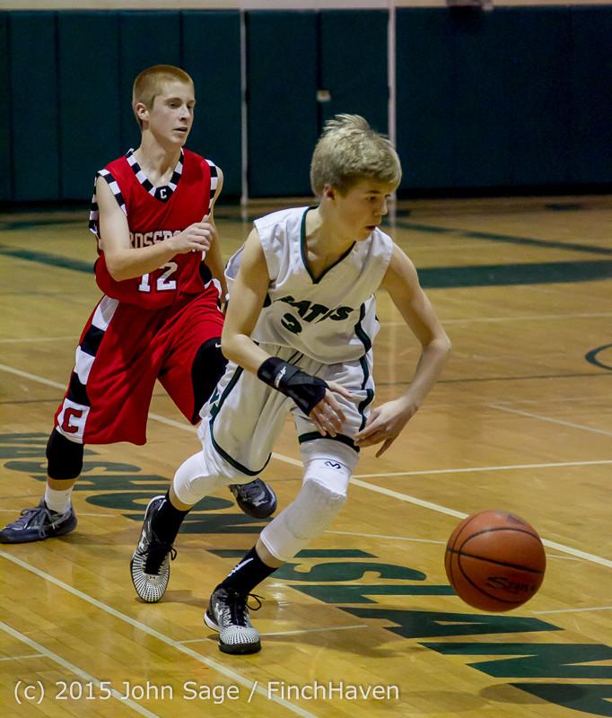 1253 Boys JV Basketball v Crosspoint 122115