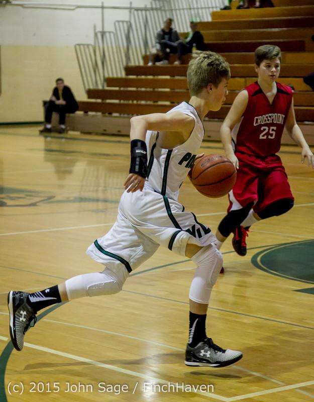 1259 Boys JV Basketball v Crosspoint 122115