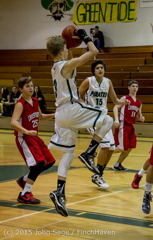 1263 Boys JV Basketball v Crosspoint 122115