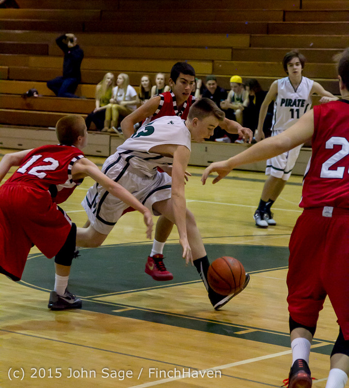 1281 Boys JV Basketball v Crosspoint 122115