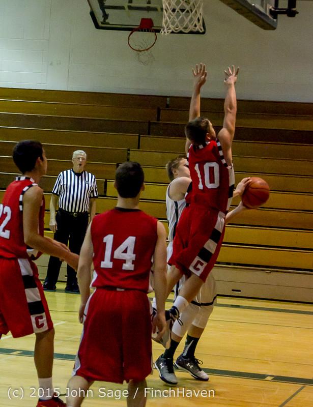 1291 Boys JV Basketball v Crosspoint 122115