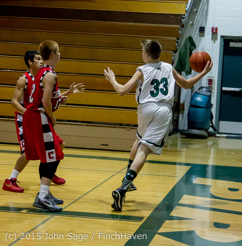 1313 Boys JV Basketball v Crosspoint 122115