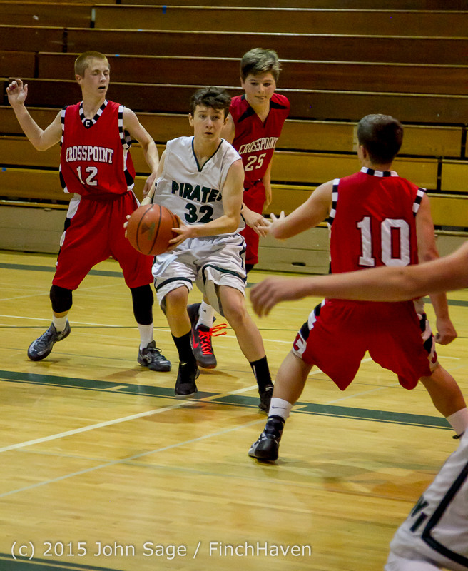 1348 Boys JV Basketball v Crosspoint 122115