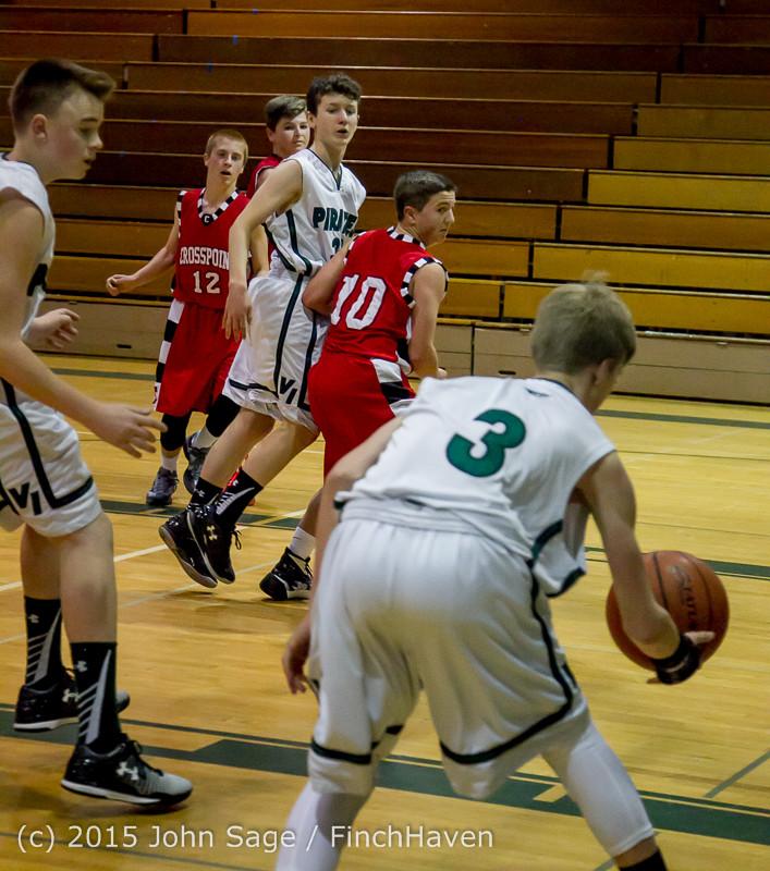 1353 Boys JV Basketball v Crosspoint 122115