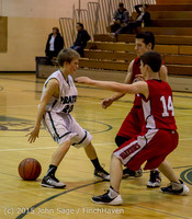 1426 Boys JV Basketball v Crosspoint 122115