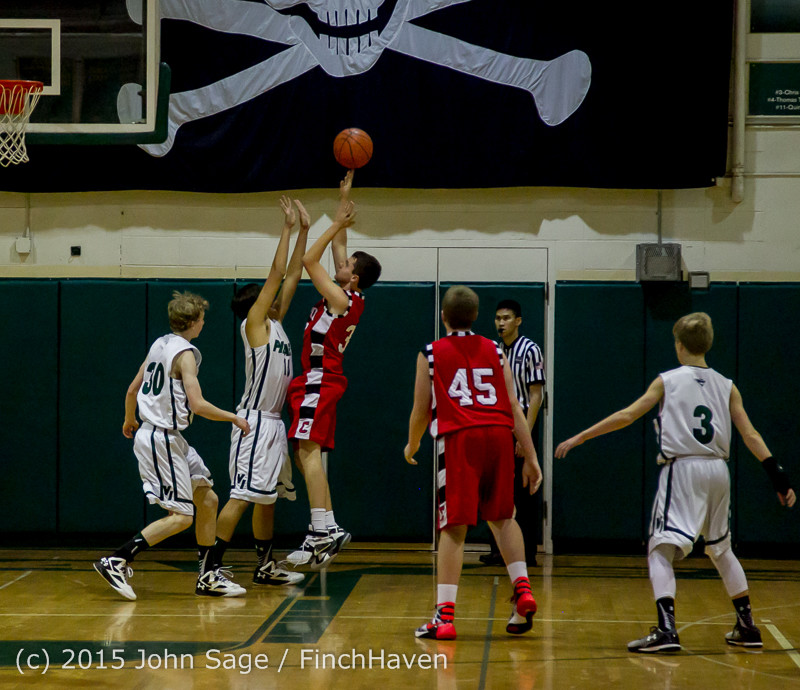 1447 Boys JV Basketball v Crosspoint 122115