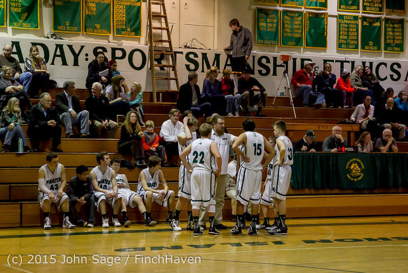 1497 Boys JV Basketball v Crosspoint 122115