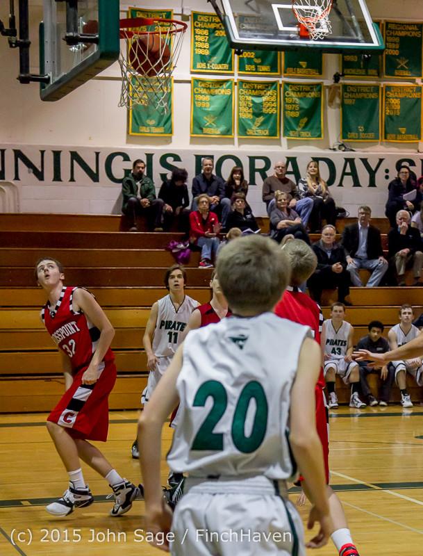 1529 Boys JV Basketball v Crosspoint 122115