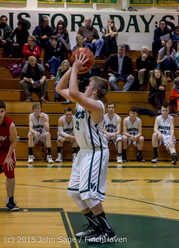 1540 Boys JV Basketball v Crosspoint 122115