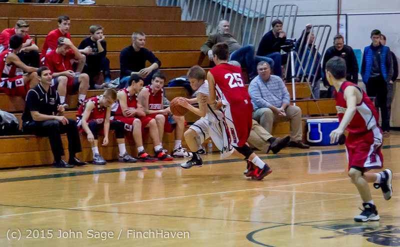 1548 Boys JV Basketball v Crosspoint 122115