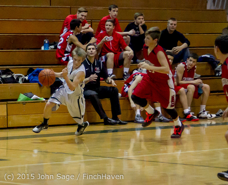 1552 Boys JV Basketball v Crosspoint 122115