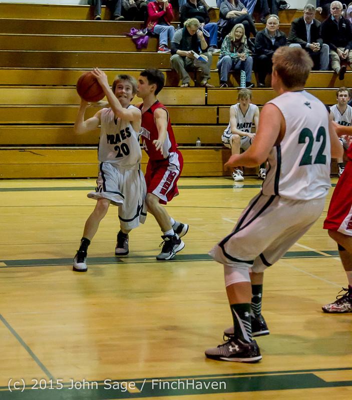 1563 Boys JV Basketball v Crosspoint 122115