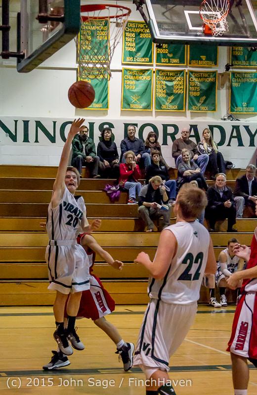 1565 Boys JV Basketball v Crosspoint 122115