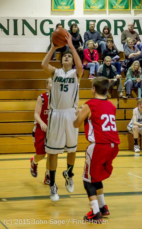 1589 Boys JV Basketball v Crosspoint 122115