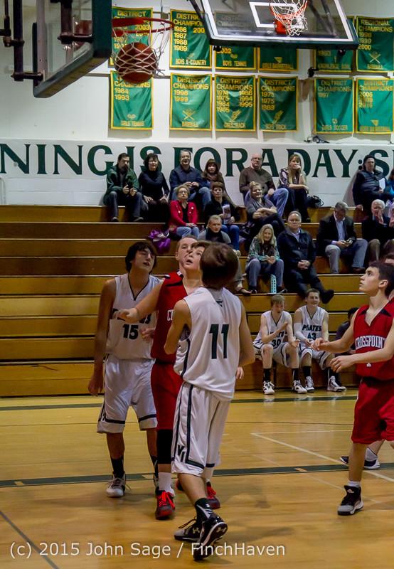 1597 Boys JV Basketball v Crosspoint 122115
