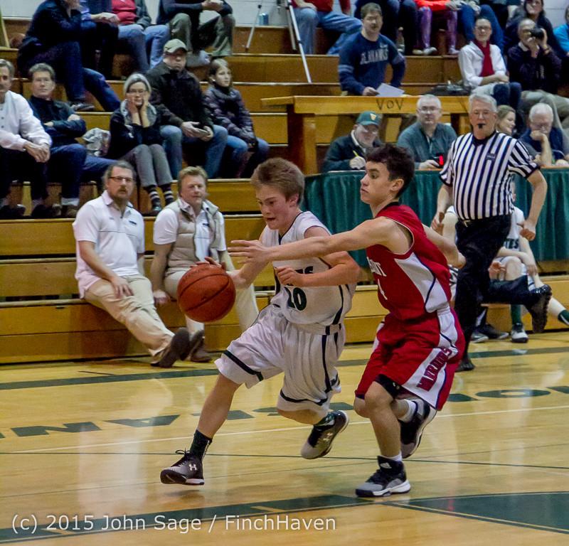1606 Boys JV Basketball v Crosspoint 122115