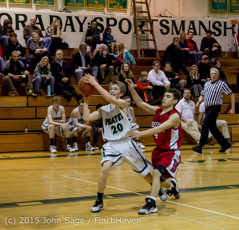 1610 Boys JV Basketball v Crosspoint 122115