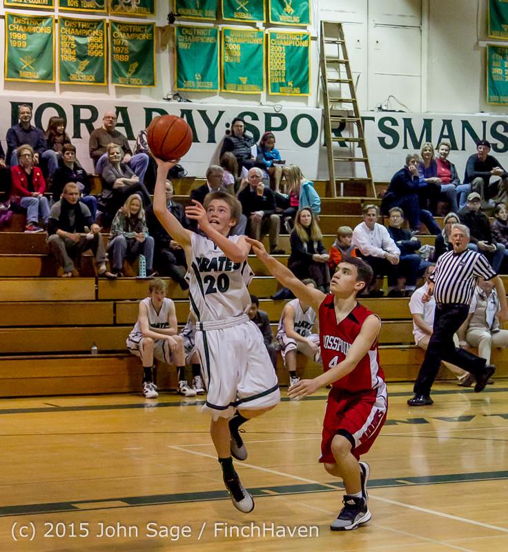 1611 Boys JV Basketball v Crosspoint 122115