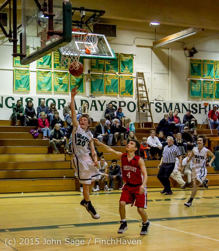 1612 Boys JV Basketball v Crosspoint 122115