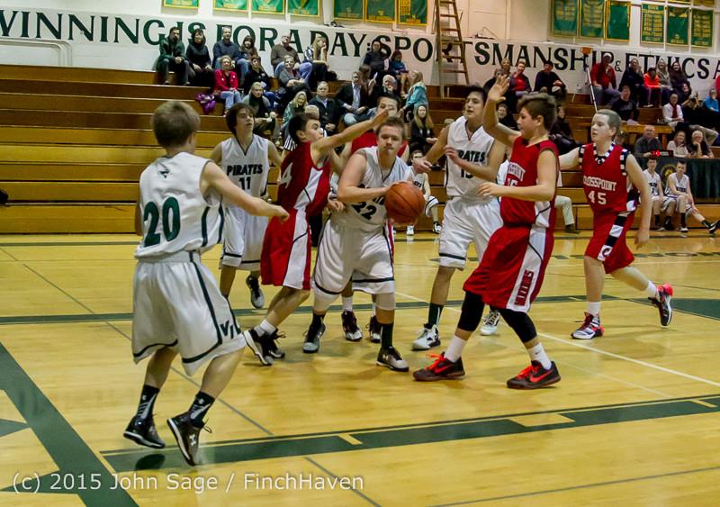 1625 Boys JV Basketball v Crosspoint 122115