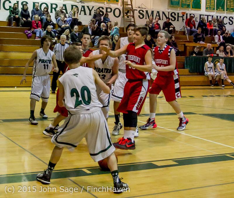 1627 Boys JV Basketball v Crosspoint 122115