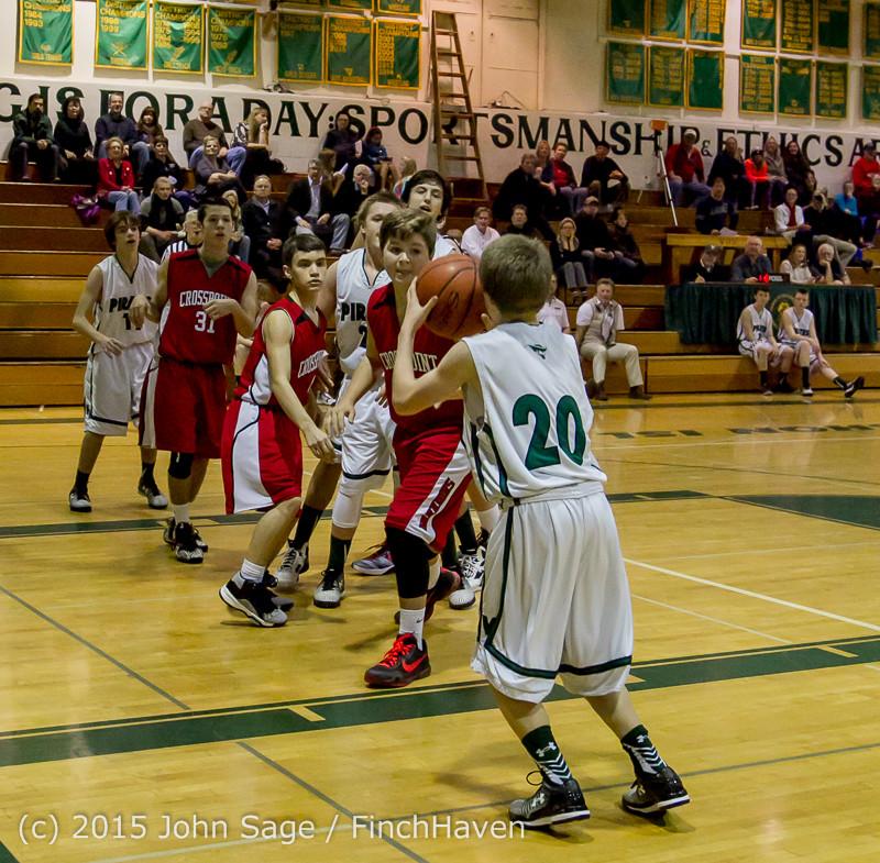 1631 Boys JV Basketball v Crosspoint 122115