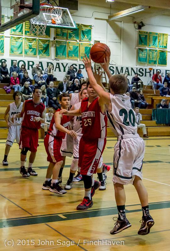 1632 Boys JV Basketball v Crosspoint 122115