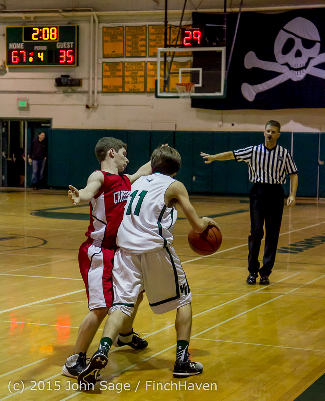 1663 Boys JV Basketball v Crosspoint 122115