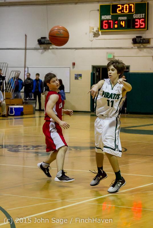 1677 Boys JV Basketball v Crosspoint 122115