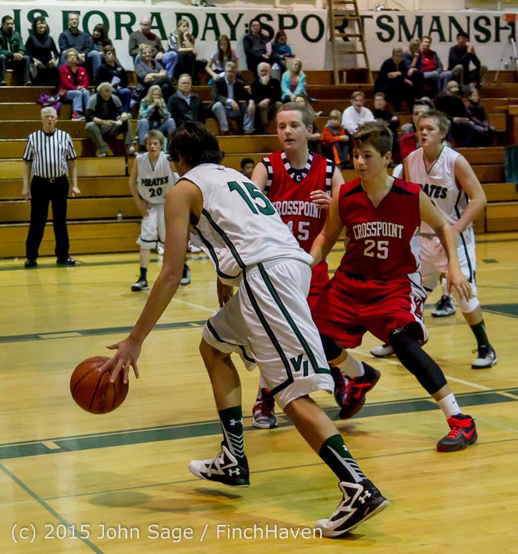 1685 Boys JV Basketball v Crosspoint 122115