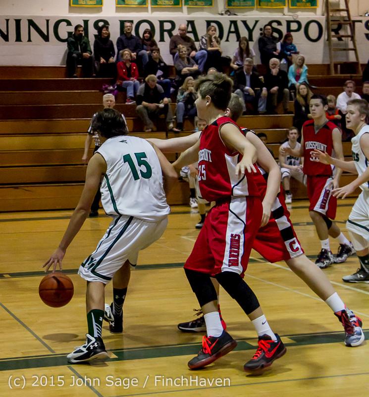 1689 Boys JV Basketball v Crosspoint 122115