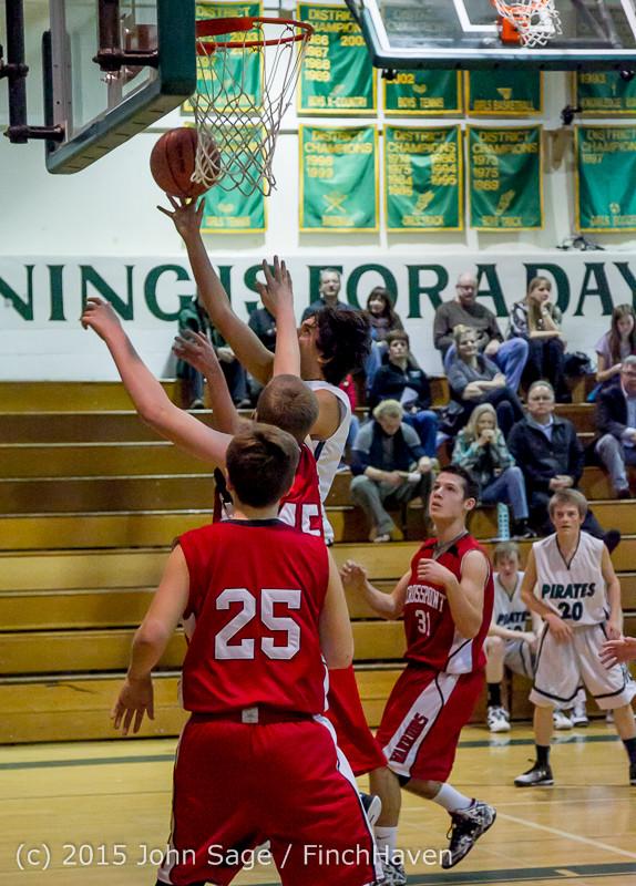 1695 Boys JV Basketball v Crosspoint 122115