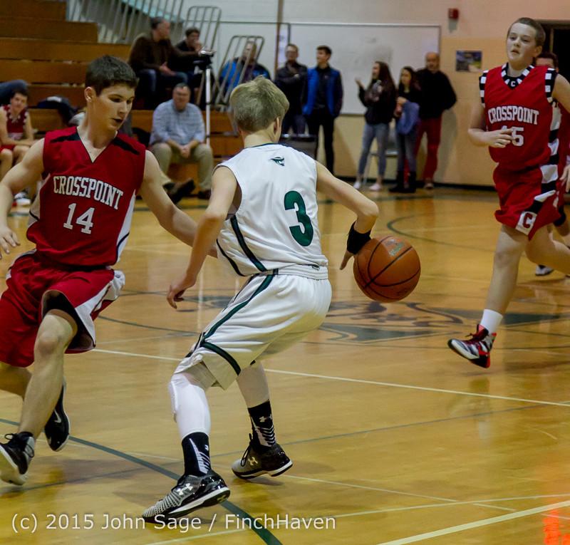 1707 Boys JV Basketball v Crosspoint 122115