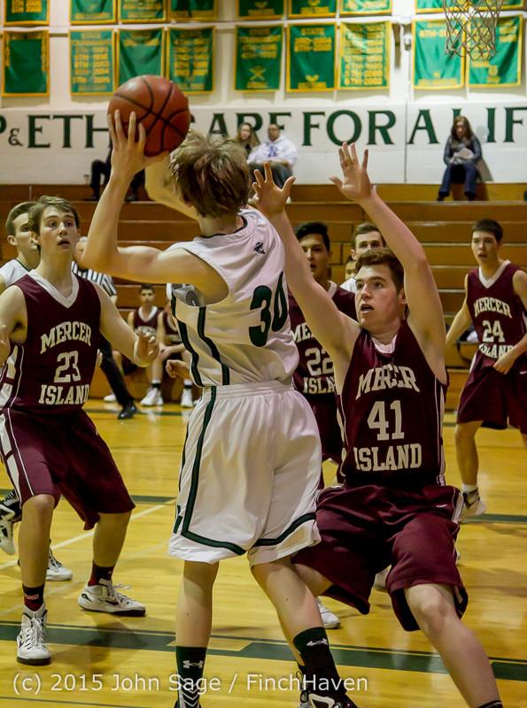 2223 Boys JV Basketball v Mercer-Isl 012516