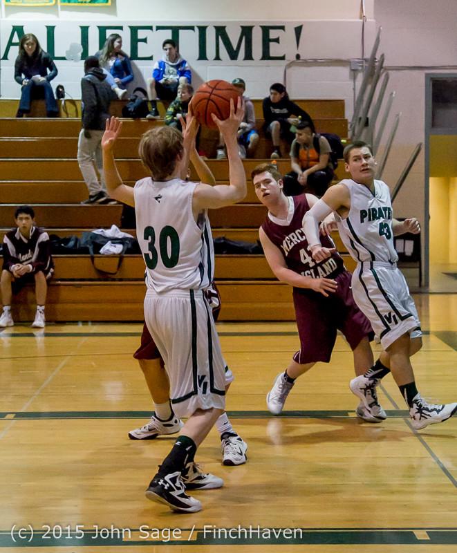 2248 Boys JV Basketball v Mercer-Isl 012516