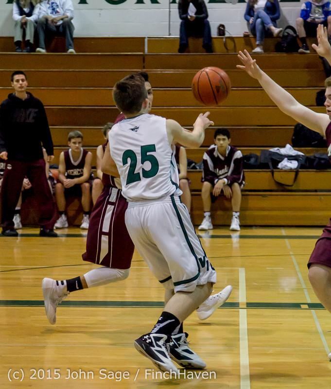 2260 Boys JV Basketball v Mercer-Isl 012516