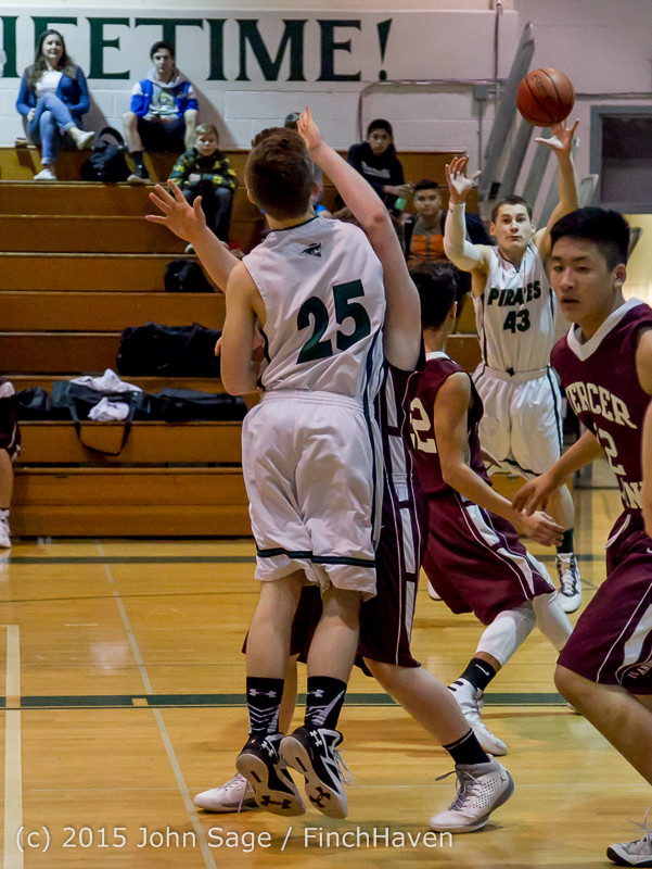 2264 Boys JV Basketball v Mercer-Isl 012516