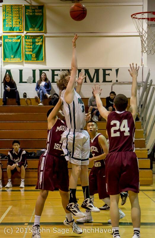2277 Boys JV Basketball v Mercer-Isl 012516